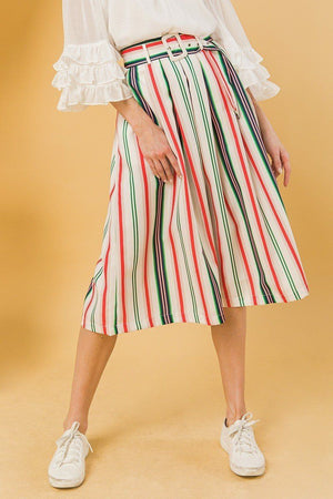 A Woven Midi Skirt Knitted Belle Boutique