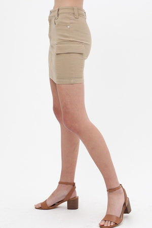 Cargo Cotton Span Mini Skirt Knitted Belle Boutique
