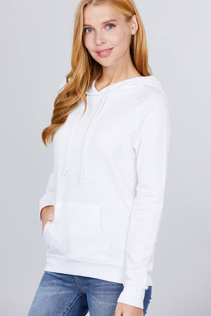 French Terry Pullover Hoodie Knitted Belle Boutique
