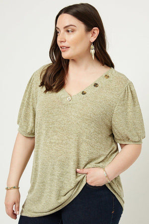 Knit V-neck Top Knitted Belle Boutique