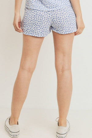 Leopard Printed Terry Short Pants Knitted Belle Boutique
