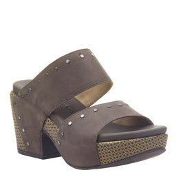 NAKED FEET - BESLOW in DUST GREY Heeled Sandals WOMEN FOOTWEAR NAKED FEET