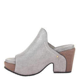 NAKED FEET - CORINTH 2 in GREY SILVER Heeled Sandals WOMEN FOOTWEAR NAKED FEET