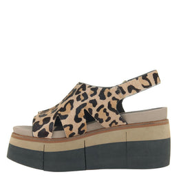 NAKED FEET - GEO in LEOPARD PRINT Wedge Sandals WOMEN FOOTWEAR NAKED FEET