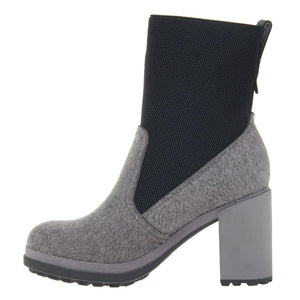 NAKED FEET - SURVIVAL in GREY Mid-Shaft Boots WOMEN FOOTWEAR NAKED FEET