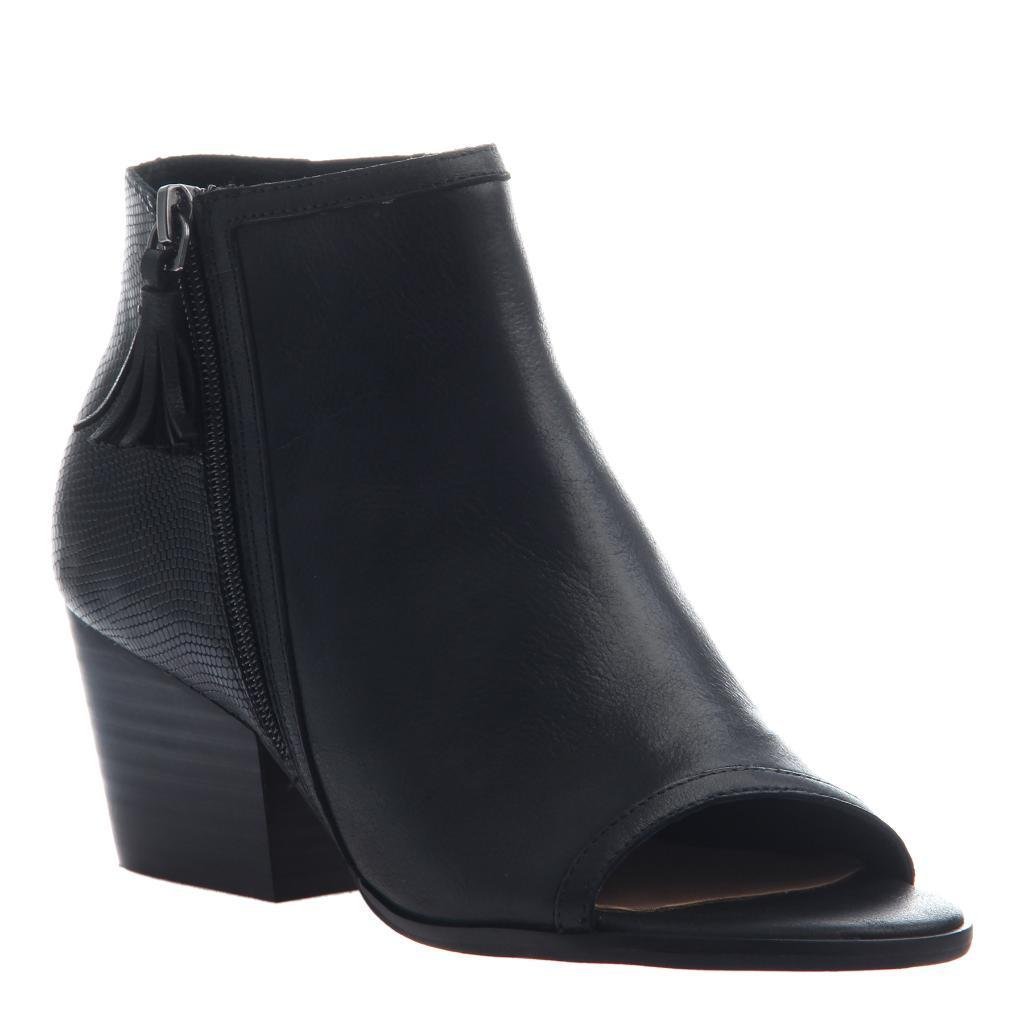 NICOLE - ANIA in BLACK Open Toe Booties WOMEN FOOTWEAR NICOLE