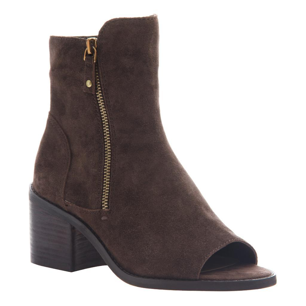 NICOLE - NINA in DARK BROWN Open Toe Booties WOMEN FOOTWEAR NICOLE