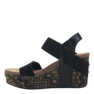 OTBT - BUSHNELL in BLACK JUTE Wedge Sandals WOMEN FOOTWEAR OTBT