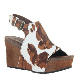 OTBT - JAUNT in CALF PRINT Wedge Sandals WOMEN FOOTWEAR OTBT
