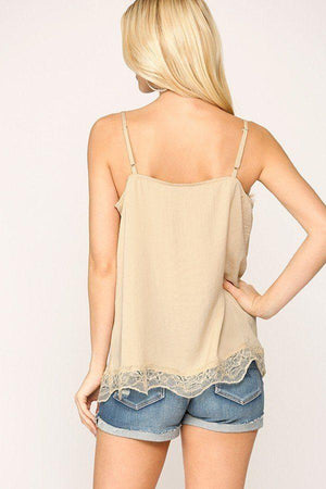 Sleek Satin Cami Top Knitted Belle Boutique