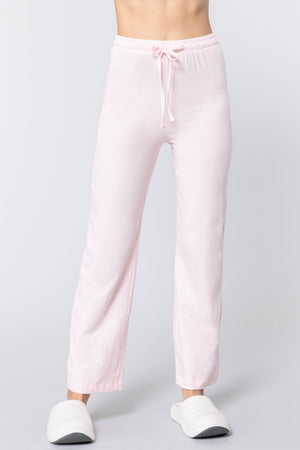 Solid Cotton Pajama Pants Knitted Belle Boutique