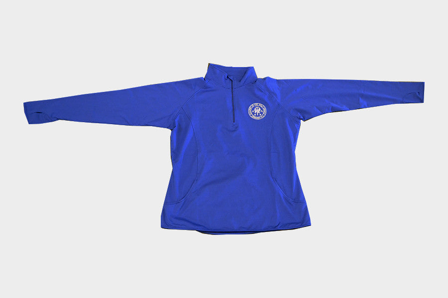 Blue Ladies Sport-Wick 1/2 Zip Pullover