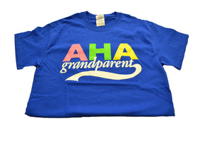 Blue AHA Grandparent Short Sleeve T-Shirt
