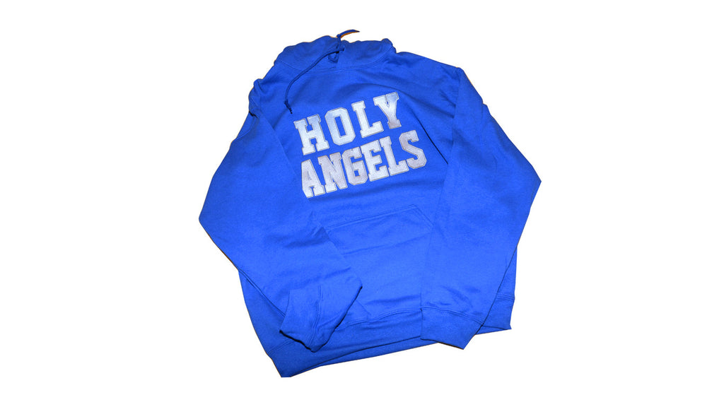 Royal Blue Holy Angels Embroidered Sweatshirt