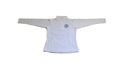 White Ladies Sport-Wick 1/4 Zip Pullover