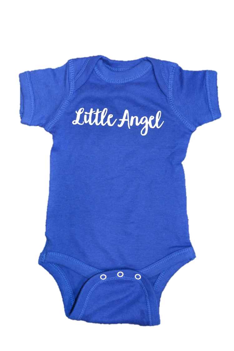 """Little Angel"" Onesie with Wings"