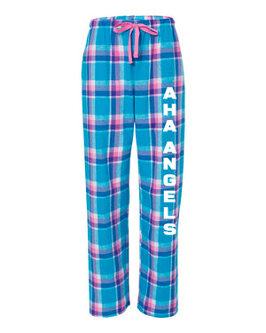 Flannel PJ Pants in Pink and Blue Plaid