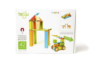 42 Piece Magnetic Wooden Block Set - Tint