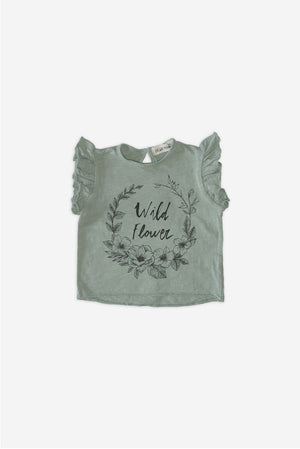 Flowers Sage-Grey T-Shirt