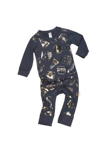 Gold Food Romper