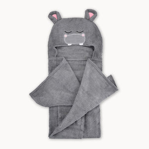 Hippo Bamboo Hooded Towel