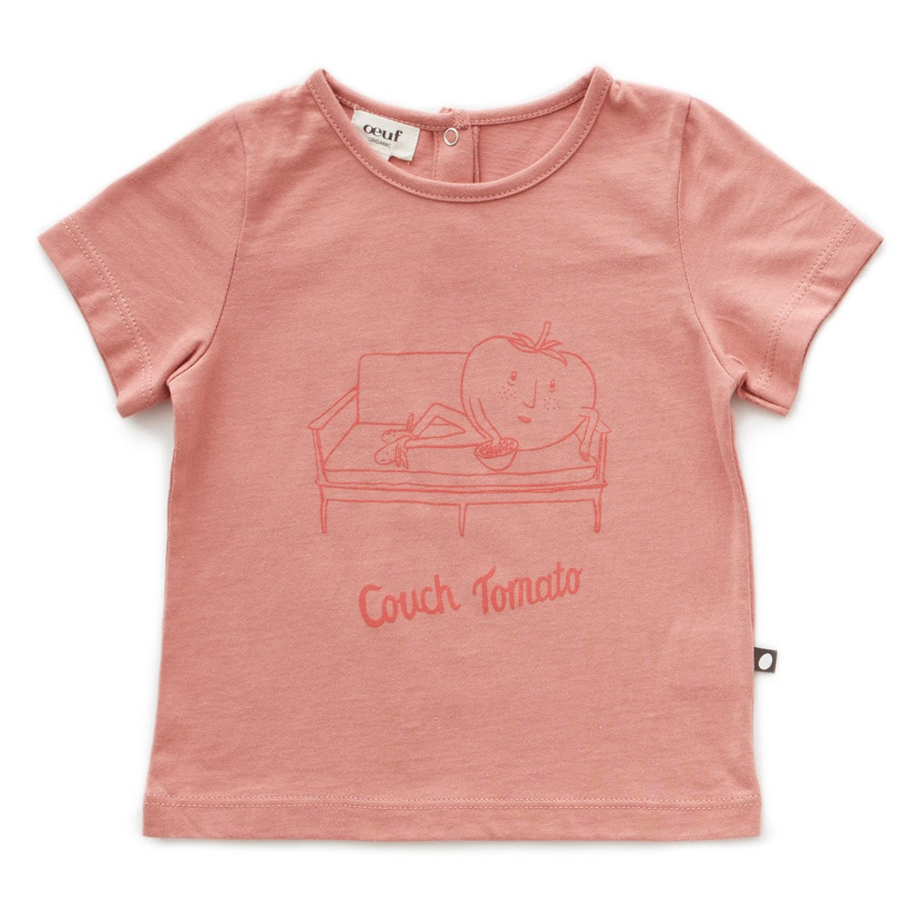Tee Shirt Toasted Nut/Couch Tomato