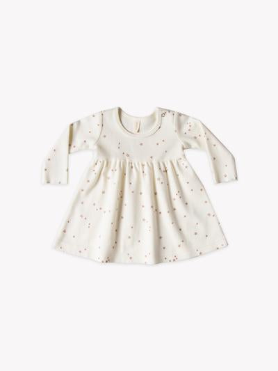 Longsleeve Baby Dress-Ivory