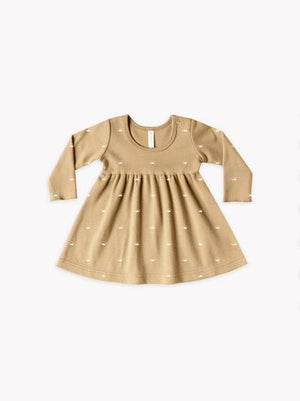Longsleeve Baby Dress-Honey