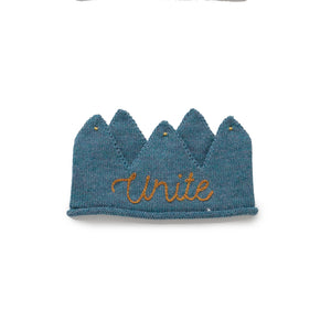 Embroidered Crown Bluestone