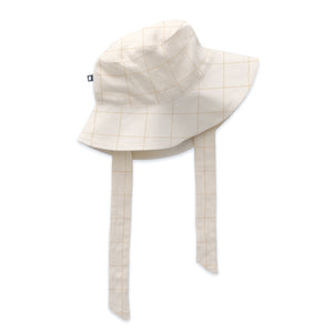 Hat with Tie - Gardenia