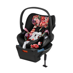 Cloud Q Infant Car Seat with Sensorsafe Dark Spring Blossom