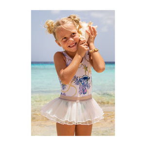 One Piece Swimsuit with Tutu - Under The Sea