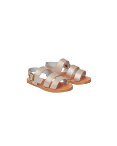 Noella Strappy Sandals Rose-Gold Metallic