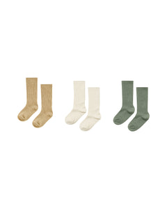 Knee socks Almond,Natural,Fern