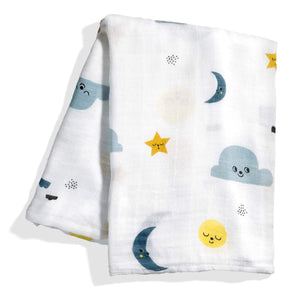 Rookie Humans Bamboo Baby Swaddle - Moon & Stars Print