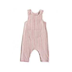 Stripes Away Organic Cotton Overall Romper - Pink