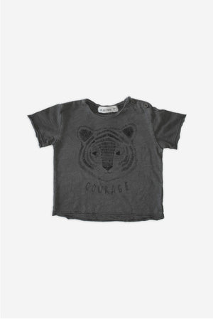 Face Tiger Stone-Grey T-Shirt