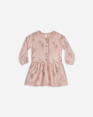 Fairy Button Up Dress - Rose