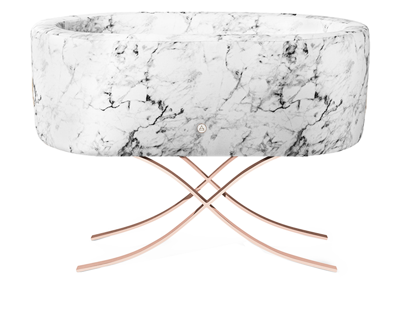 Carrara Marble | Curale Rose Gold Base