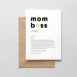 Mom Boss Card