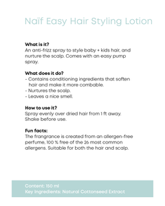 Kids EASY STYLING HAIR LOTION