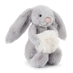 Bashful Grey Snow Bunny