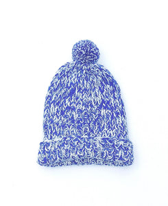Speckled Pom Hat Cobalt
