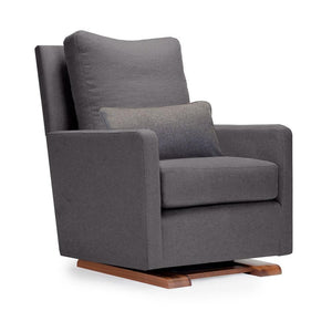 Como Glider- Dark Grey Italian Wool & Walnut Base