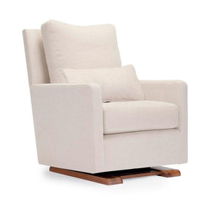 Como Glider- Oatmeal Italian Wool & Walnut Base