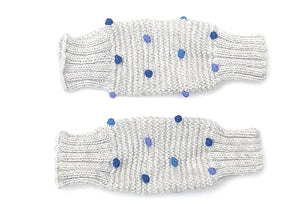 Leg/Arm Warmers Grey w/ Shades of Blue Dots