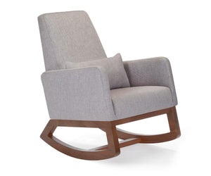 Joya Rocker -Pebble Grey & Walnut Base *Quick Ship*