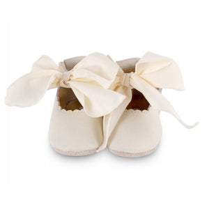 Lieve Lining - Off White Leather & Cream Cotton 18-24M