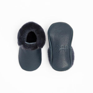 Shearling Moccasin - Navy