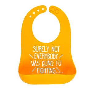 Surely Not Everyone Was Kung Fu Fighting Bib